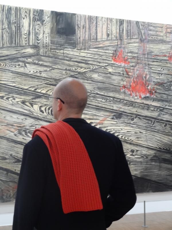 Kiefer/L'homme à l'écharpe rouge